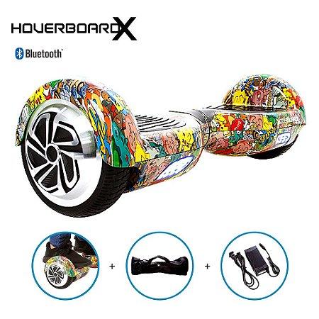 Hoverboard Skate Elétrico 6,5 Pokemon HoverboardX Bluetooth