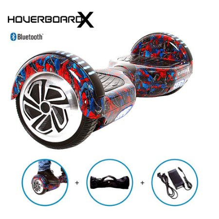 Hoverboard Elétrico 6,5 Homem Aranha HoverboardX Bluetooth