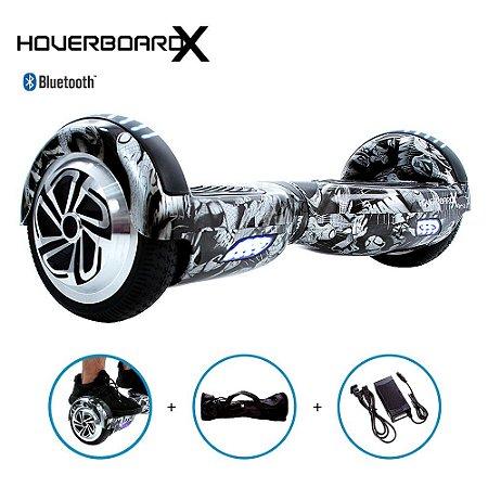 Hoverboard 6,5 Homem-Aranha Preto e Branco HoverboardX