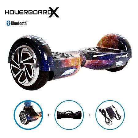 Hoverboard Skate Elétrico 6,5 Aurora Azul Barato Bluetooth