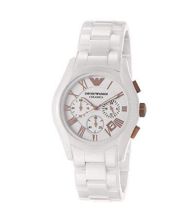 Relógio Unissex Emporio Armani AR1416 Ceramica Branco 43mm