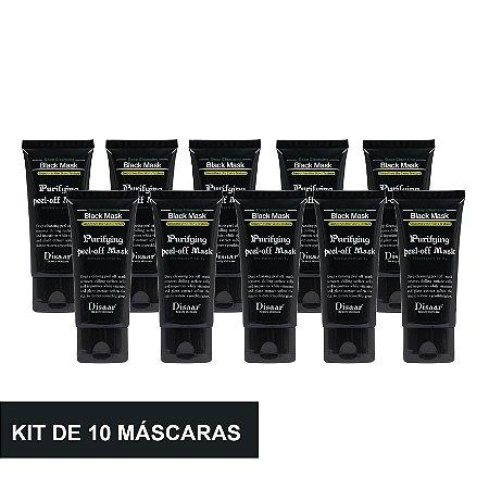 Kit 10 Máscara Preta Removedora De Cravos Black Mask Shills 50ML