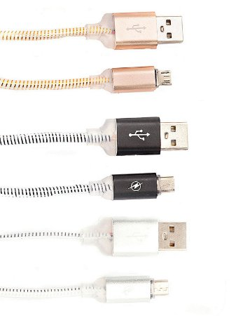 Cabo USB Quick Charge Para Android Várias Cores