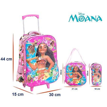 fe22c8615 Kit Mochila Infantil Escolar 3D Com Rodinhas Moana - Chic Outlet ...
