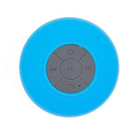 Mini Caixa De Som Bluetooth Prova D'água Speaker Azul