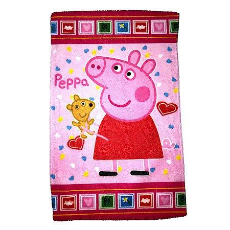 Toalha De Rosto E Mão Peppa Pig Felpuda Infantil Personagens