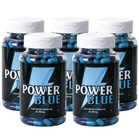 Kit 5 Power Blue Estimulante 500mg - 90 Cápsulas