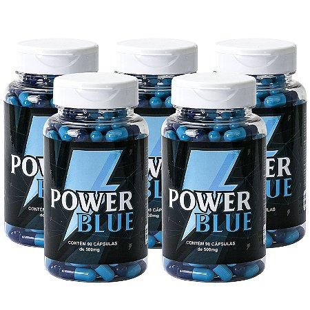 Kit 5 Power Blue Viagra Natural 500mg - 90 Cápsulas