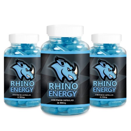 Kit 3 Rhino Energy Viagra Natural 500mg - 90 Cápsulas