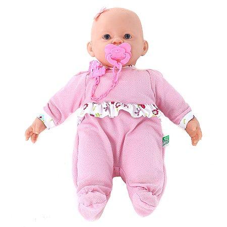 Boneca Tipo Bebe Reborn Julia - Sons igual de Bebe