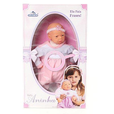 Boneca Baby Aninha Fala 4 Frases