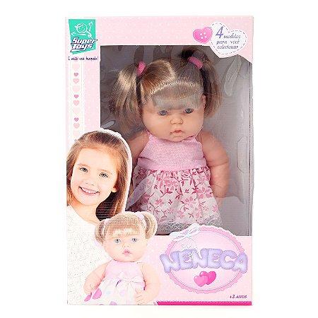 Boneca Neneca Com Cabelo - Super Toys - 281