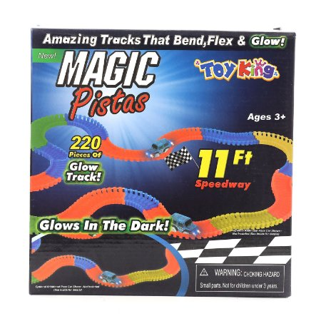 Pista Magic Tracks 220 Peças Pista Magica Brilha no Escuro