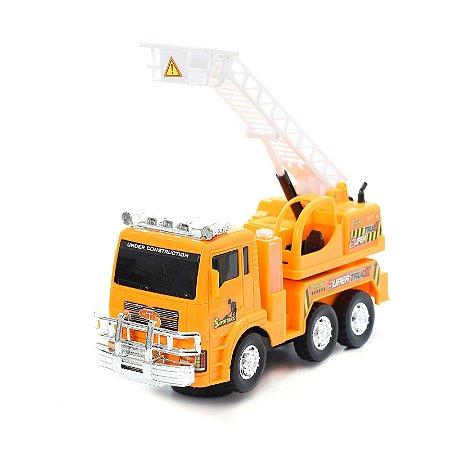 Carrinho Guincho Super Truck Bate Volta Gira 360º