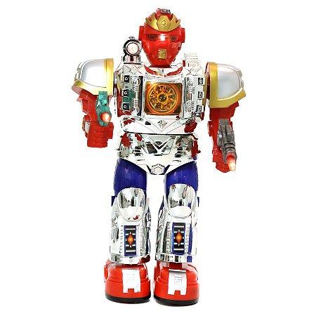 Boneco Super Robot com Luz