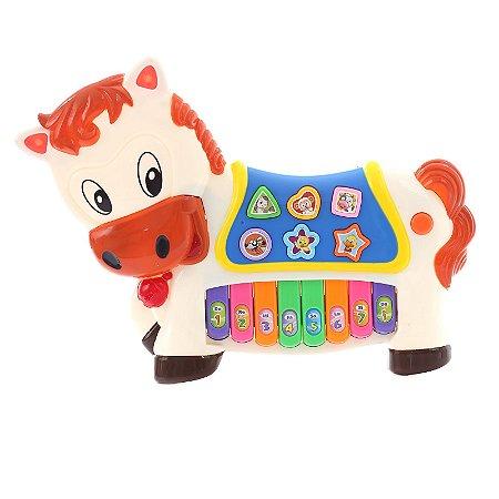 Piano Infantil Instrumento Cavalo Musical Eletrônico