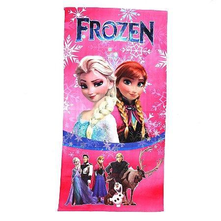 Toalha De Banho Felpuda Infantil Personagens Frozen 1