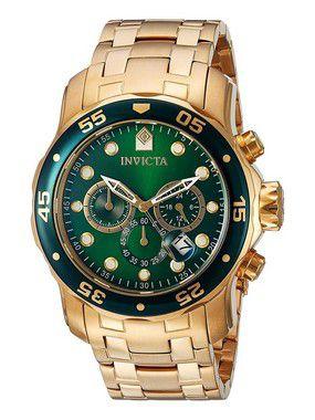40848a1655c Relógio Invicta Pro Diver 0075 Dourado Masculino - Chic Outlet ...