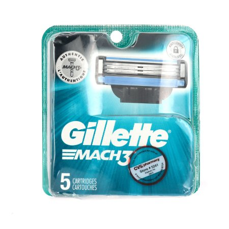 Carga Gillette Mach 3 - 5 Unidades p/barbear