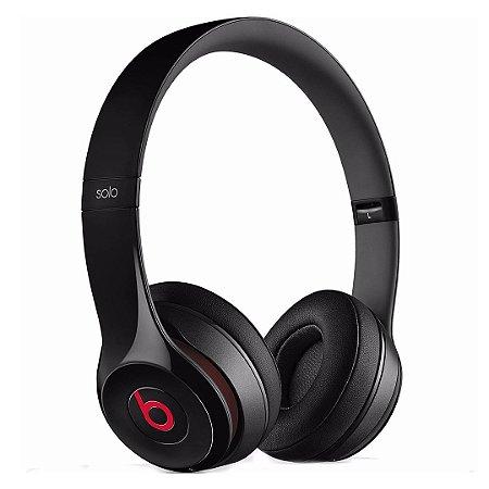 Fone de ouvido Beats Solo2 Original c/ Fio – Preto/Vermelho