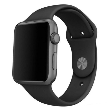 Pulseira Silicone  Esportivo para  Apple Watch  38mm- Preto