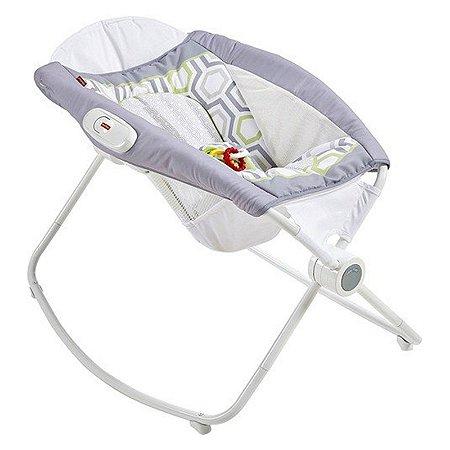 Cadeira de Descanso e Balanço para Bebê Brouncer Fisher Price Rocker Play Sleeper
