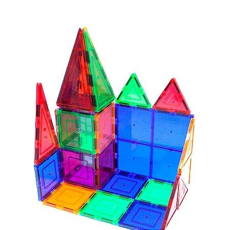 Brinquedo Picasso Tiles Blocos de Construção Magnéticos