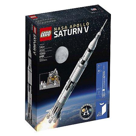 21309 - Lego Nasa Apollo Saturn V Kit de Construção Educativo Foguete