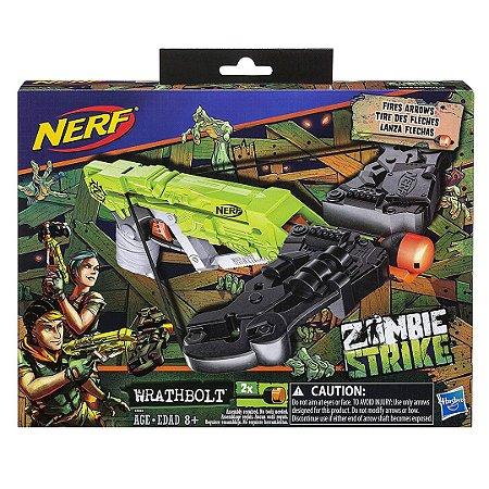Atirador Lançador de Dardos Nerf Wrathbolt Zombie Strike