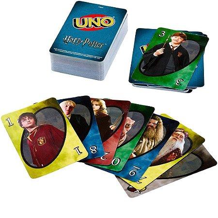 Jogo Uno Harry Potter Mattel 2 a 10 Jogadores com 112 Cartas