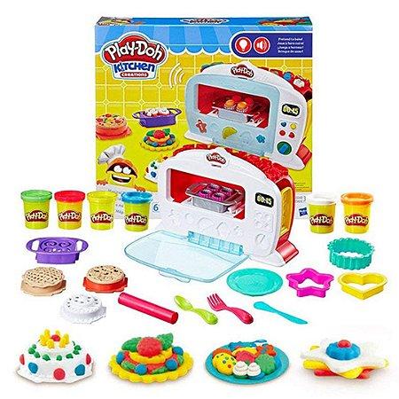 Conjunto Forno Mágico Infantil Play-Doh Eletrônico Com Luz e Som