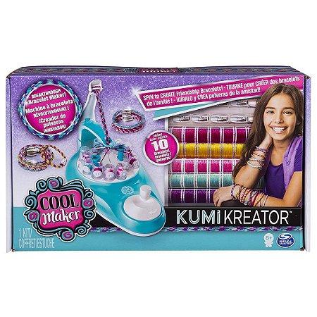 Máquina De Pulseiras kumikreator Cool Maker Infantil Faz até 10 Pulseiras