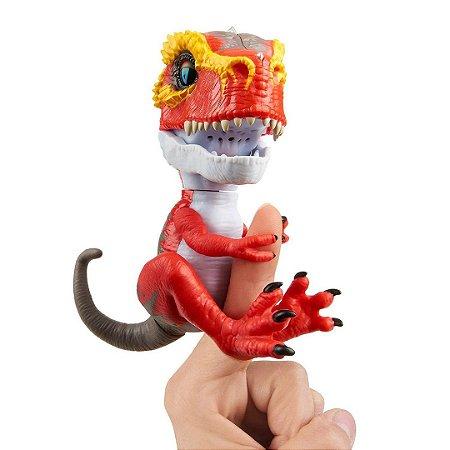 Dinossauro T-Rex Ripsaw Agarradinhos  Fingerlings Untamed Vermelho