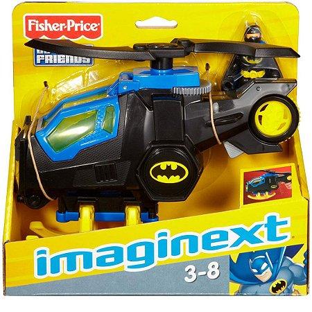 Boneco Imaginext Batman e Batcopter seu Helicóptero Fisher-Price Super Friends