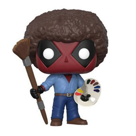 Boneco Deadpool Funko Pop Marvel As Bob Ross 319
