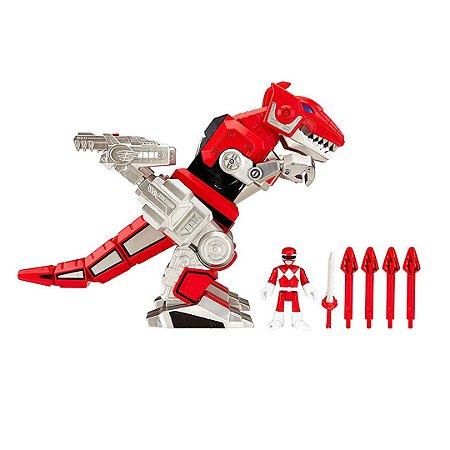 Kit Power Ranger Vermelho Fisher-price Imaginext Batalha Dinozord T-rex Zord