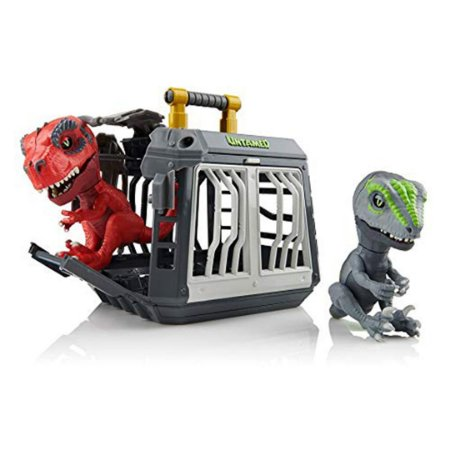 Kit Jaula Untamed Jailbreak de Playset Com Fingerlings Breakout T-Rex e Raptor Bolt