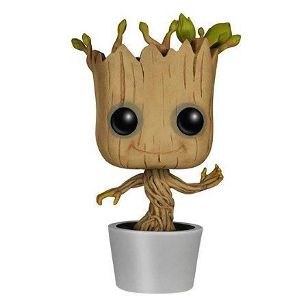 Boneco Groot Funko Pop Marvel Guardiões da Galáxia Dançando Groot