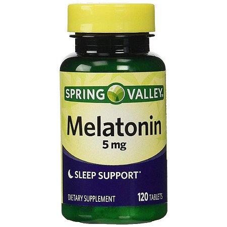 Melatonina Spring Valley Suporte para Dormir 5mg (120 Tabletes)
