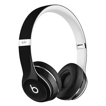 Fone de ouvido Beats Solo2 Original c/ Fio – Preto/Branco