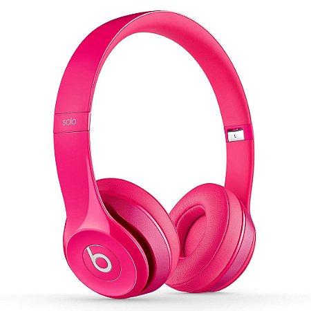 Fone de ouvido Beats Solo2 Original c/ Fio – Pink