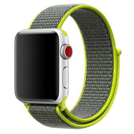 Pulseira Nylon Sport Loop Para Apple Watch 42mm - Verde