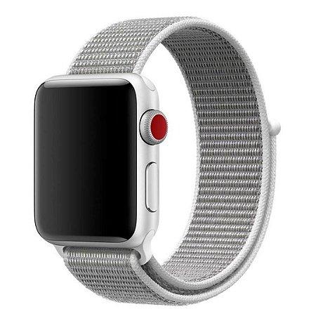 Pulseira Nylon Sport Loop Para Apple Watch 38mm - Branca