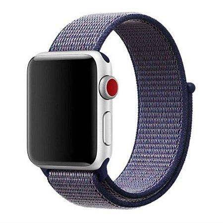 Pulseira Nylon Sport Loop Para Apple Watch 42mm - Azul