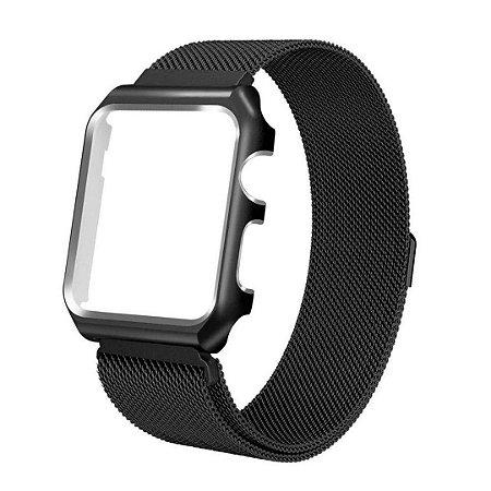 Pulseira Milanese Magnética Bumper Para Apple Watch 42mm - Preto