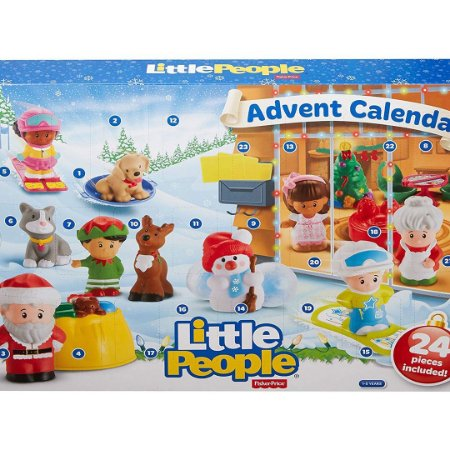 Kit Bonecos Little-People Calendário Advento Fisher-Price Feliz Natal