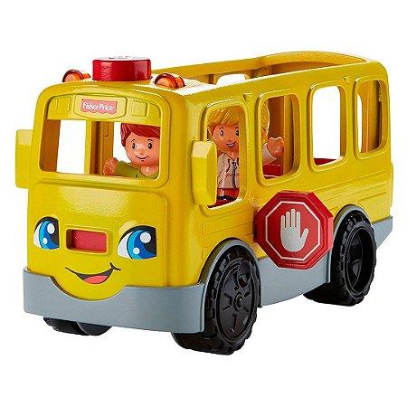 Ônibus Escolar Infantil Fisher-Price Divertido Com Música e Luzes Para Bebê