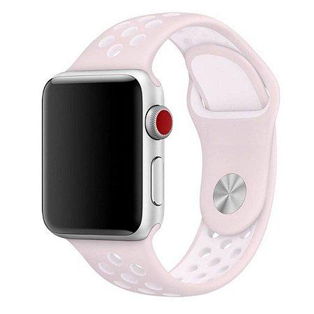 Pulseira Silicone Esportiva Para Apple Watch 42mm - Rosa Claro