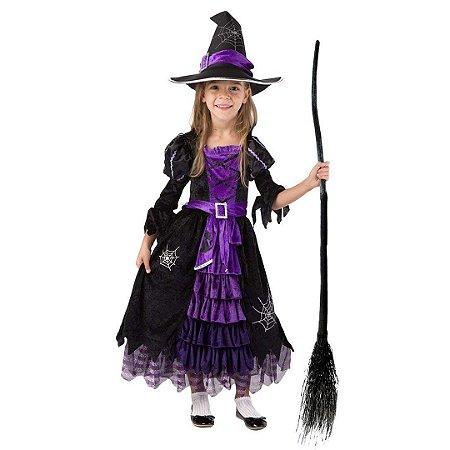 0c38173b2488af Fantasia Infantil de Bruxa Costume Deluxe Set Feitiçaria Conto de Fadas
