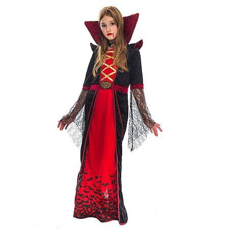 Fantasia Infantil de Vampira Gótica Spooktacular Deluxe Set Halloween Dias das Bruxas
